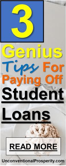 3 Genius Tips For Paying Off Student Loans fast! This is a must read article if you are serious about paying off your student loan debt this year.
