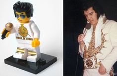 Elvis Presley and other famous person from LEGO.
