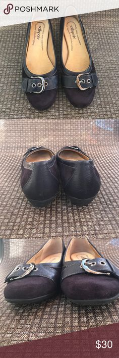 SoftSpots Plum Flats Well cared for and loved by my mom! These are soooo incredibly comfortable and provides arch support and padding. Great for walking! Softspots Shoes Flats & Loafers