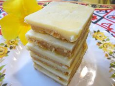 SPLENDID LOW-CARBING          BY JENNIFER ELOFF: NO BAKE PEANUT BUTTER WHITE CHOCOLATE BARS