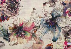*Jersey Inkjet-Print Blumen hell*