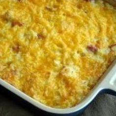 Here is a delicious way to use up some of that leftover Easter ham. Can't resist anything with cheese and potatoes. This can either go in the oven or in the crockpot for several hours--the choice is yours. Enjoy! Recipe & photo: allfreecasserolerecipes.com