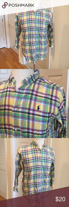 Ralph Lauren button-down shirt 💌Excellent condition. Plaid perfect for spring. Runs small Ralph Lauren Shirts Casual Button Down Shirts