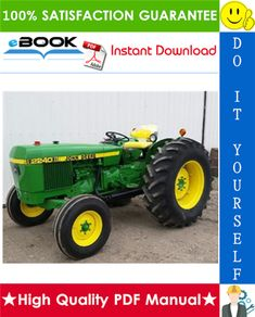 this is the complete technical manual for the john deere 2040, 2240  tractor  it