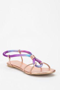 Tie dye loop-knot sandal #urbanoutfitters