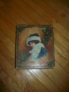 Vintage Christmas Box Circa 1900 by RedRiverAntiques on Etsy, $24.50
