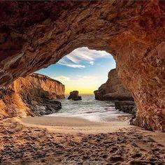 Shark Fin Cove. Davenport, California