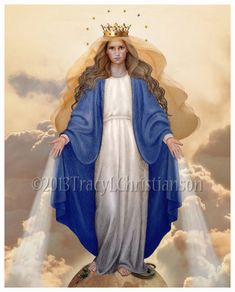 Our Lady of Grace Catholic Art Print Blessed by PortraitsofSaints, $12.00