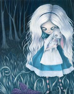 Alice in Wonderland by Elin Jonsson, via Behance