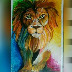 Abstract lion paintings  Medium : acrylics