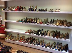Shoe display ideas shop rack store wall shelves i. Shoe Display, Display Ideas, Shoe Wall, Shop Organization, Organizing, Shoes Stand, Postnatal Workout, Shoe Organizer, Shop Window Displays