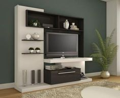 TV Wall Units for your beautiful home. For details : unit WallpaperAttractive TV Wall Units for your beautiful home. For details : unit Wallpaper Found it at .uk - Kaira Entertainment Centre for T. Lcd Unit Design, Tv Unit Interior Design, Tv Unit Decor, Tv Wall Decor, Tv Cabinet Design, Tv Wall Design, Muebles Rack Tv, Tv Wanddekor, Modern Tv Wall Units