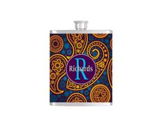 Check out this item in my Etsy shop https://www.etsy.com/listing/183166397/personalized-flask-name-monogram-paisley
