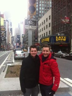Twitter / damianmcginty: Rehearsing in NYC with @paulbyrom ...