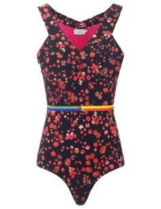 Red Flower Lang Swimsuit | Preen by Thornton Bregazzi | Avenue32