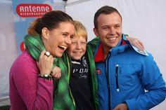 Wenke und worlitzer aus der Moin-Show treffen ihre Fans beim Antenne Niedersachsen Open Air 2013 im Heide-Park Resort Soltau