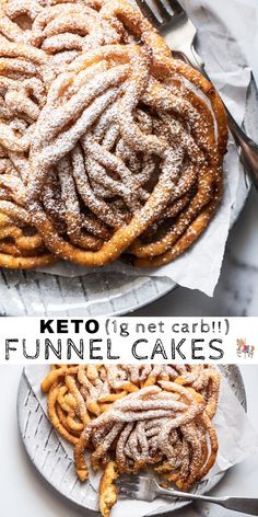 Homemade Gluten Free & Keto Funnel Cakes - Keto Diet Tips Keto Desserts, Keto Friendly Desserts, Mini Desserts, Holiday Desserts, Quick Keto Dessert, Keto Cookies, Chip Cookies, Food Cakes, Ketogenic Recipes