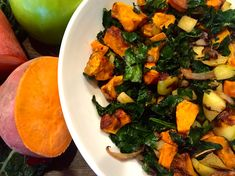 If you like savory morning meals but crave just a little sweetness, then you will love this combination of kale and sweet potatoes with green apple thrown into the mix. Filled with antioxidants, fiber and good carbs, this powerhouse breakfast will keep you energized all morning long. *Serves 2 INGREDIENTS 1 bunch dinosaur kale, stalks …