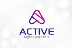 Active Letter A Logo Template by gunaonedesign on Business Brochure, Business Card Logo, Logo Design Template, Logo Templates, Site Website, Letter Form, Logo Design Inspiration, Design Ideas, Script Type