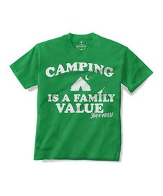 Take a look at this Kelly Green 'Camping' Tee - Toddler & Kids on zulily today!
