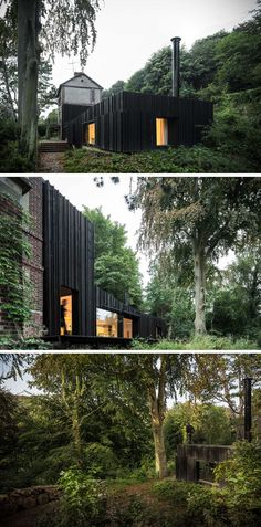 13 Totally Secluded Homes To Escape From The World // Tucked into a forest in Normandy, France, is this modest house that provides…