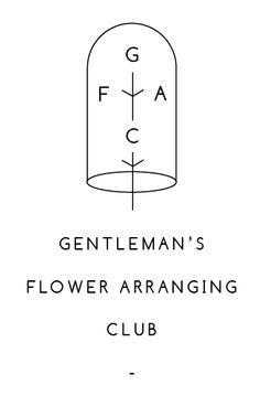 #graphic #design #logo #brand #genteman #flower #arranging #club GFAC, Thomas Harold Whitcombe