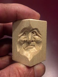 Tiny Face 2 carved by Steve Coughlan