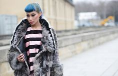 Street style: dior stripes