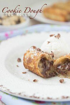 Cookie Dough Egg Rolls | sweetasacookie.com