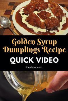 The Legendary CWA Golden Syrup Dumplings Recipe Canadian Food, Canadian Recipes, Golden Syrup Pudding, Golden Syrup Dumplings, Yummy Food, Yummy Recipes, Dumpling Recipe, No Cook Desserts