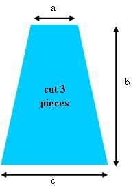 """The bottom of trapezoid """"C"""" should equal 40% of 1."""