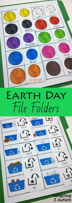 Earth Day File Folder Activities - part of a larger Basic Concepts for Speech Therapy resource. Perfect for special education classrooms or autism programs.