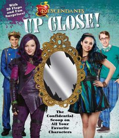 Disney Descendants: Up Close! by Matt Sinclair - This insider's guide to Disney Descendants delves deep into life at Auradon prep and the backgrounds of students. The Descendants, Disney Descendants Books, Decendants, Love U So Much, Shopping World, Disney Quotes, Evie, Childrens Books, Backgrounds