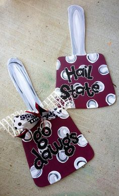 Wooden cowbell  mississippi state university cowbell  by paintchic, $30.00