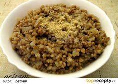 Pohanka na drožďovém základu recept - TopRecepty.cz Quinoa, Vegan Vegetarian, Dog Food Recipes, Oatmeal, Breakfast, Fitness, Bulgur, The Oatmeal, Morning Coffee