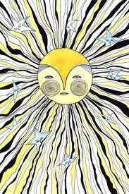 ♥ suns Walking In Sunshine, Good Morning Sunshine, Sunday Morning, Sun Moon Stars, Sun And Stars, Sun Solar, Solar Power, Sun Doodles, Sun And Moon Tarot