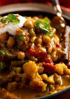 Close up of pile of Vegetable Tagine Vegetable Recipes, Vegetarian Recipes, Cooking Recipes, Low Calorie Vegetables, Veggies, Moroccan Stew, Indian Food Recipes, Ethnic Recipes, Moroccan Recipes
