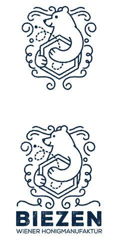 Logo for the viennese beekeeper BIEZEN Bee Keeping, Logo Design, Arabic Calligraphy, Logos, Art, Art Background, Logo, Kunst, Arabic Calligraphy Art