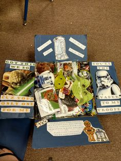 Star wars care package Deployment Care Packages, Valentines For Boys, Star Wars, Gift Wrapping, Packaging, Stars, Gifts, Gift Wrapping Paper, Presents