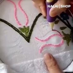 The Magic Embroidery Pen has been designed to make your work more efficient. In the process of embroidery, it will relieve your stress on work and life. And a beautiful piece of artwork can be done by magic embroidery needle pen. Embroidery Needles, Embroidery Patterns, Hand Embroidery, Sewing Patterns, Crochet Patterns, Embroidery Tools, Knitting Patterns, Sewing Hacks, Sewing Crafts