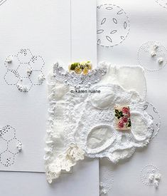 Fashion Sewing, Textile Art, Hand Stitching, Embellishments, Crochet Earrings, Textiles, Embroidery, Inspiration, Color