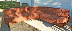 Vintage Mid Century Modern Sectional Corner by WrightstownAntiques, $1800.00