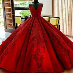 Burgundy Wedding Dresses Ball Gowns Lace Embroidery