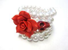 Day Of The Dead Sugar Skull Bracelet Flor de by sweetie2sweetie, $22.99