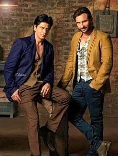 Shahrukh and Saif Ali Khan.  I like the interesting choices Saif makes as an actor.  I'd like to see SRK step out of his comfort zone and tap into his ENORMOUS talent to do different roles than he's been doing.