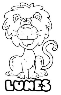 Recursos infantil: Asamblea (El alumno de la semana/día, meses, días de la semana - español) Elementary Spanish, Teaching Spanish, World Languages, Smurfs, Art For Kids, Coloring Pages, Preschool, Doodles, Drawings
