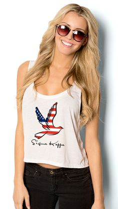 Design your own Sigma Kappa tank tops at UberPrints.com. #sigmakappa #4thofJuly