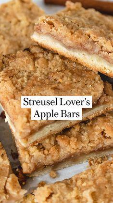 Apple Dessert Recipes, Fun Baking Recipes, Vegan Desserts, Easy Desserts, Delicious Desserts, Yummy Food, Apple Recipes For Kids, Easy Dessert Bars, Cinnamon Desserts