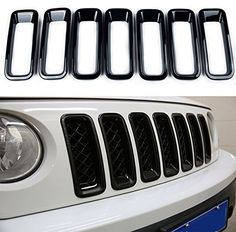 Front Grille Grill Inserts Trims Cover for Jeep Patriot (Black) Front Grille Inserts Trims for Jeep Patriot Easy installation: tape on back without drilling or tools required. White Jeep Patriot, Jeep Patriot Sport, Jeep Xj, Jeep Truck, Jeep Wrangler, Jeep Patriot Accessories, Jeep Accessories, Jeep Mods, Pickup Trucks