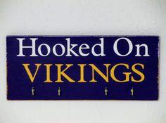 Minnesota Vikings Key Holder by CarriedAwayCraftz on Etsy, $10.00